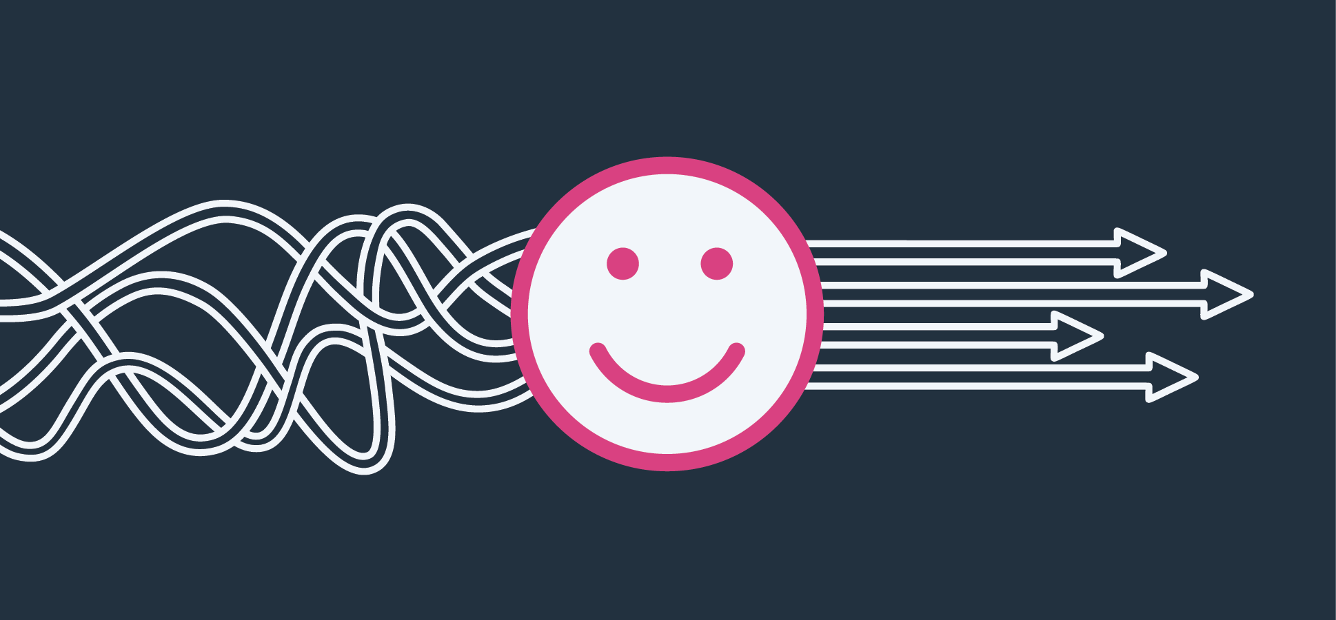 smiling icon representing employee retention and happiness